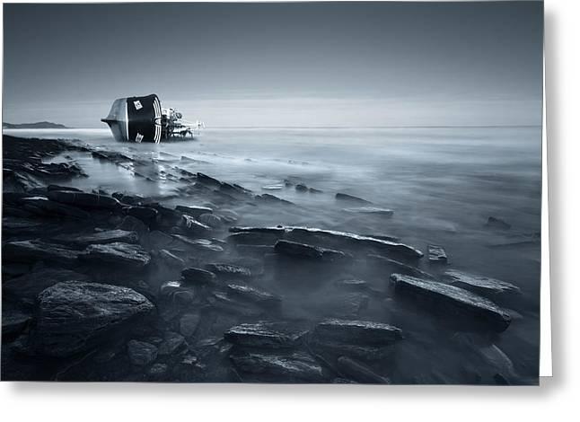 Shipwreck Greeting Card by Inigo Barandiaran