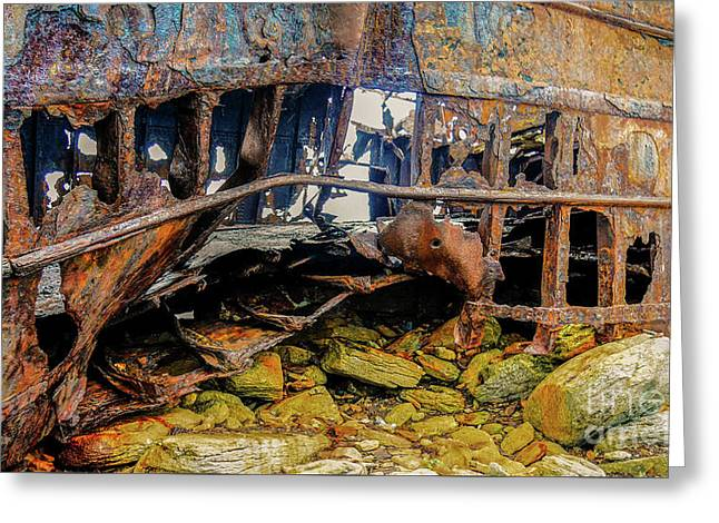 Shipwreck On Inisheer 3 Greeting Card by Lexa Harpell