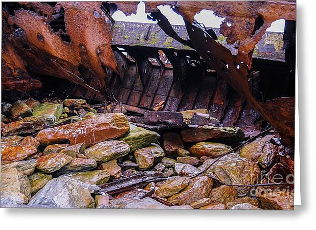 Shipwreck On Inisheer 4 Greeting Card by Lexa Harpell