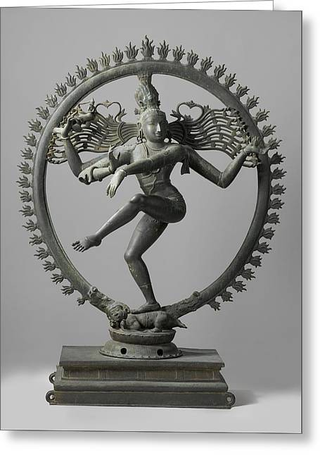 Sculptures Sculptures Greeting Cards - Shiva Greeting Card by Indian School