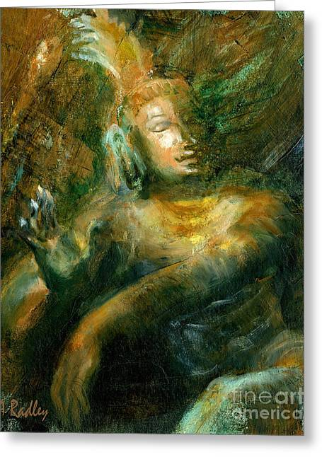 Shiva Lord Of The Dance Greeting Card by Ann Radley