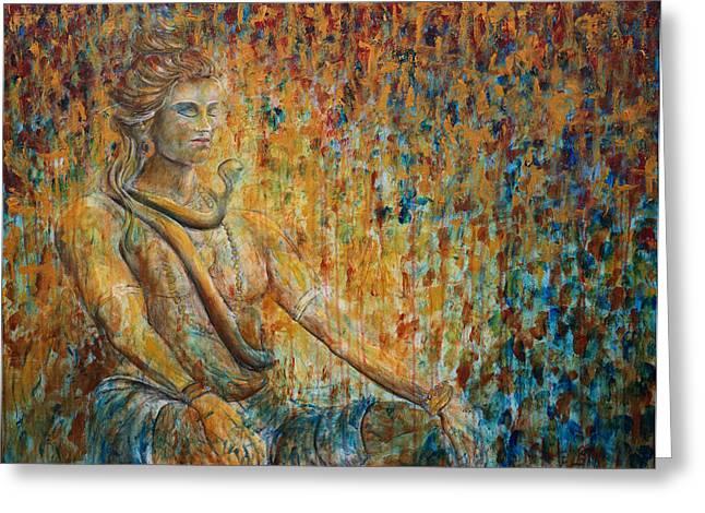 Nik Helbig Greeting Cards - Shiva Meditation 2 Greeting Card by Nik Helbig