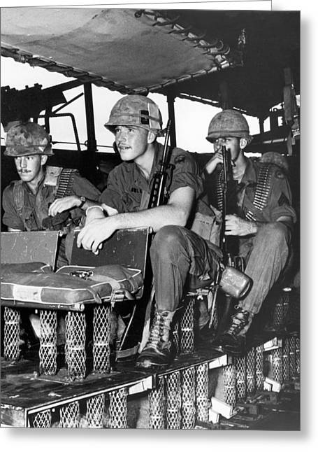 Shock Absorber Troop Carrier Greeting Card by Underwood Archives