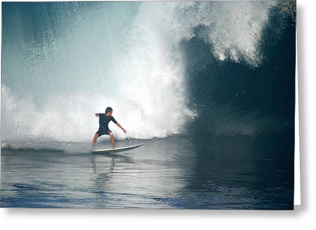 Banzai Pipeline Greeting Cards - Shock and Awe Greeting Card by Kevin Smith