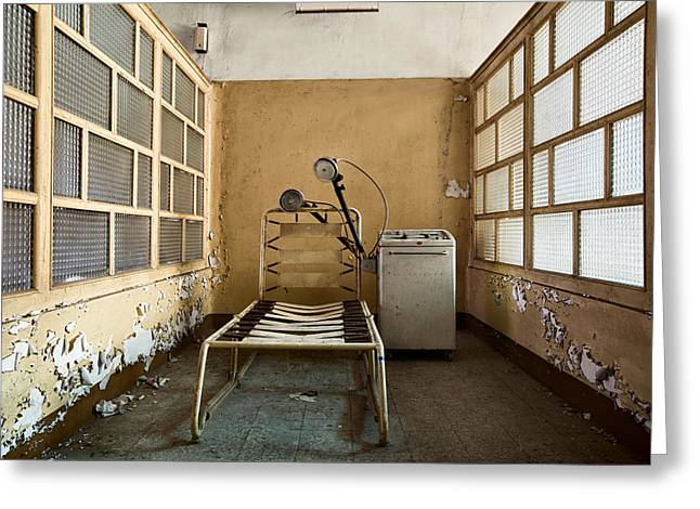 Despair Greeting Cards - Shock Therapy - Abandoned Mental Institution Greeting Card by Dirk Ercken