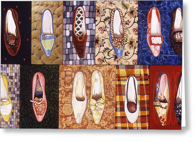 Shoe Sampler Greeting Card by Karl Frey