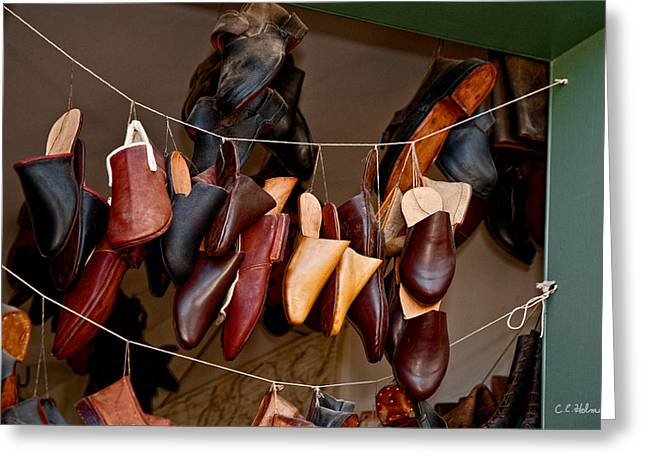 Christopher Holmes Greeting Cards - Shoes For Sale Greeting Card by Christopher Holmes