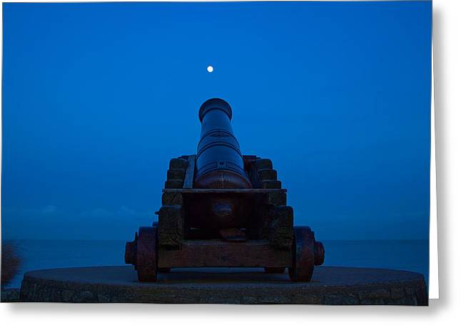Sea Moon Full Moon Greeting Cards - Shoot for the Moon Greeting Card by Dave Meier