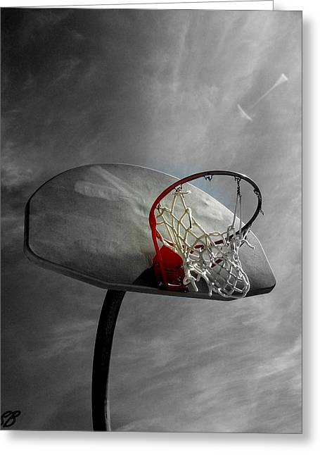Basketballs Greeting Cards - Shoot Greeting Card by Sarah Bauer
