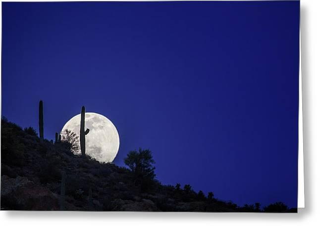 Moonrise Greeting Cards - Shoot the Moon Greeting Card by Rick Furmanek