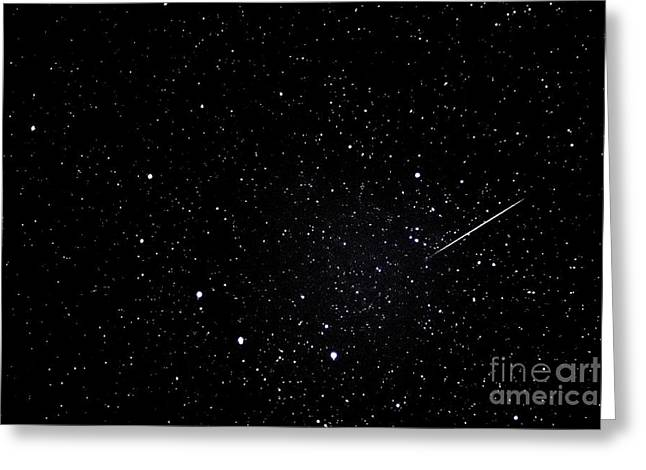 Meteors Greeting Cards - Shooting Star and Big Dipper Greeting Card by Thomas R Fletcher