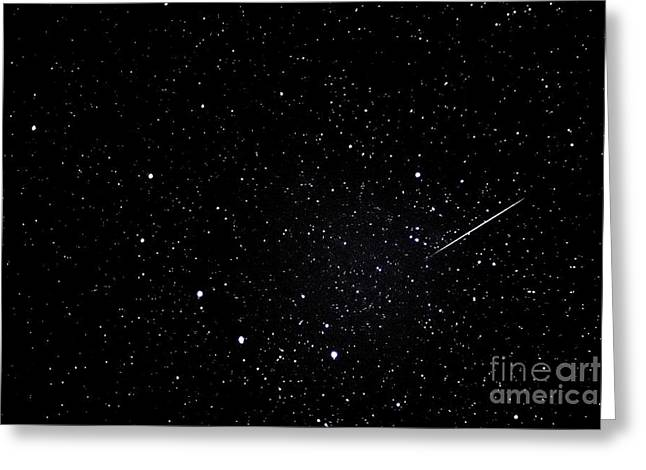 Shooting Star And Big Dipper Greeting Card by Thomas R Fletcher