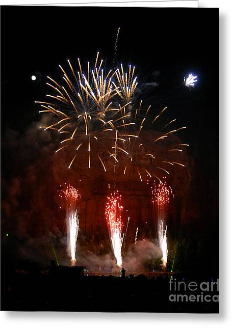 Shooting The Fireworks Greeting Card by David Lee Thompson