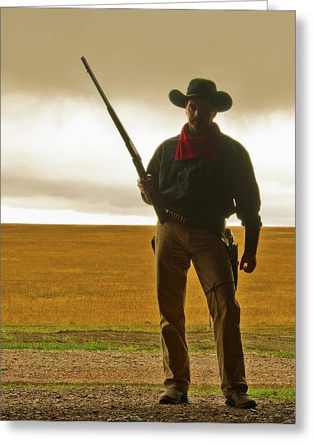 Cowboys Greeting Cards - Shootist Greeting Card by Ron  McGinnis