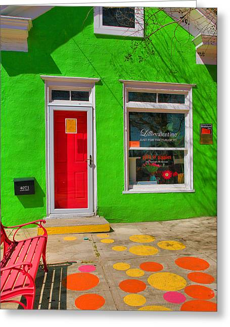 Main Street Greeting Cards - Shop Colors Greeting Card by Steven Ainsworth