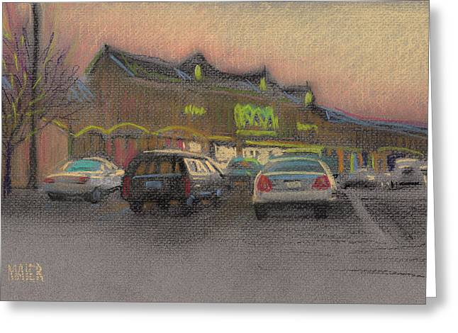 Shopping Center Greeting Card by Donald Maier
