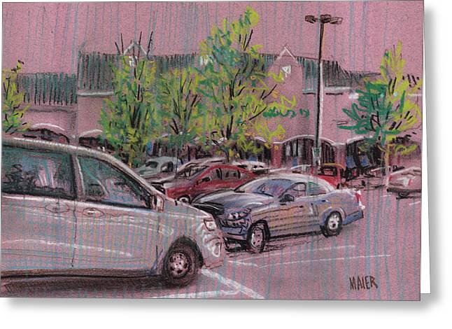 Plein Air Pastels Greeting Cards - Shopping Day Greeting Card by Donald Maier