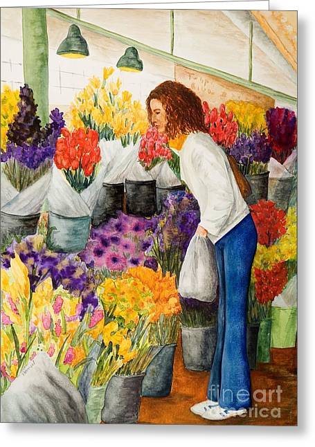Wa Paintings Greeting Cards - Shopping Pikes Market Greeting Card by Vicki  Housel