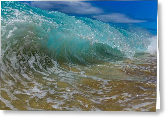 Beach Photography Greeting Cards - Shore Break Beauty Greeting Card by Chris and Wally Rivera