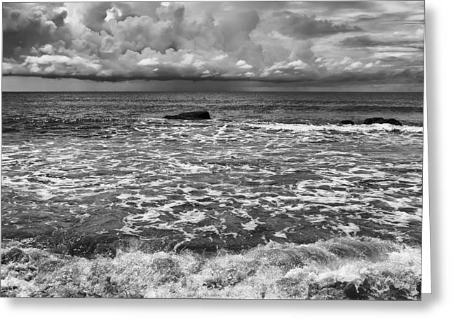 Beach Photography Greeting Cards - Shore Clouds Greeting Card by Georgia Fowler