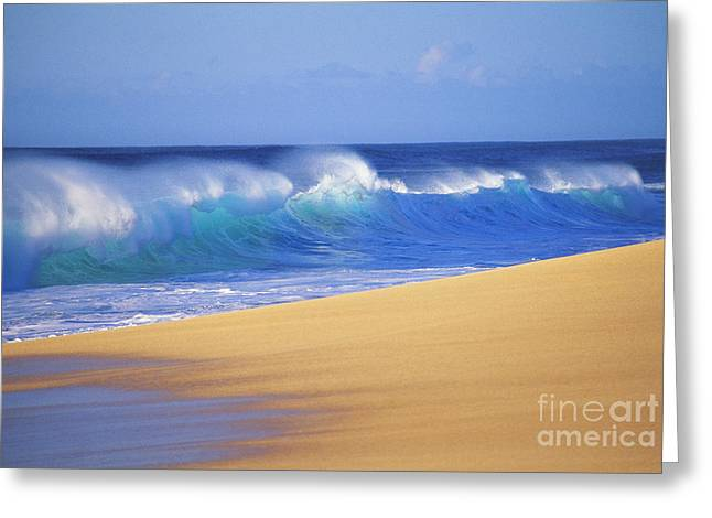 Shorebreak Waves Greeting Card by Ali ONeal - Printscapes