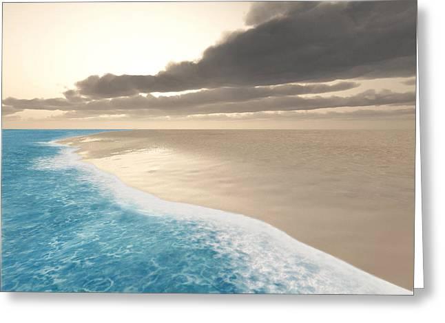 Clean Water Digital Art Greeting Cards - Shoreline Greeting Card by Cynthia Decker