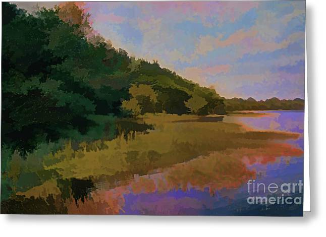 Artistic Landscape Photos Greeting Cards - Shoreline Greeting Card by Tom Prendergast