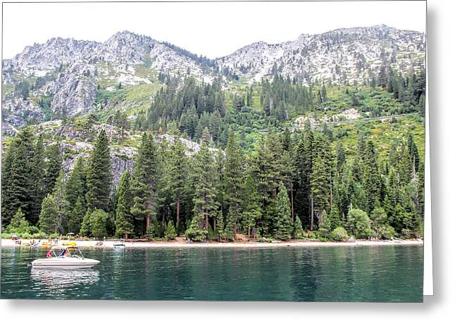 Usa Photographs Greeting Cards - Shores of Emerald Bay Greeting Card by Pat Cook