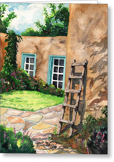 Short Ladder Greeting Card by Timithy L Gordon