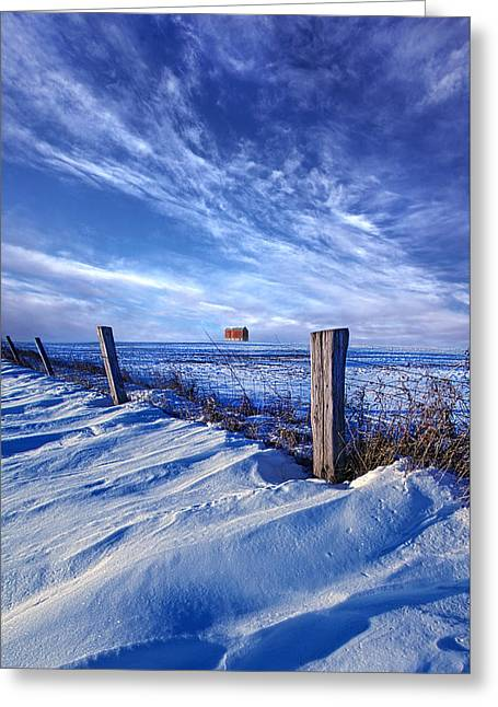 Short Piece Of Time Greeting Card by Phil Koch