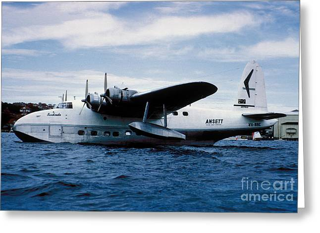 Short Sandringham Flying Boat Vh-brc Greeting Card by Wernher Krutein