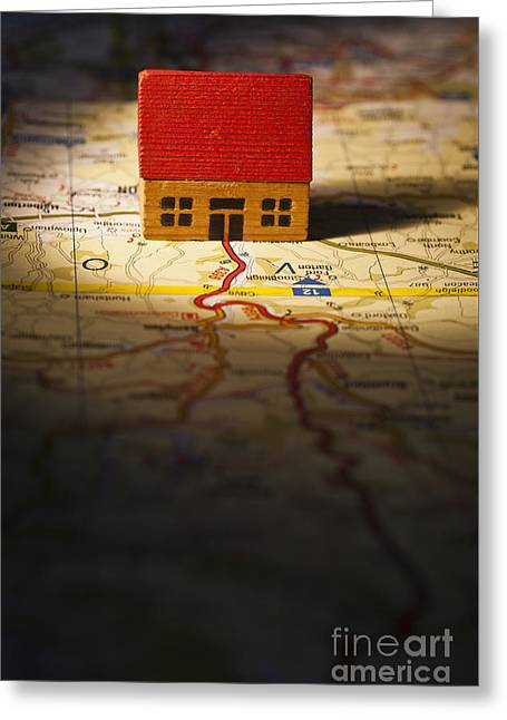 Wooden Building Greeting Cards - Show Me The Way To Go Home Greeting Card by Jan Bickerton