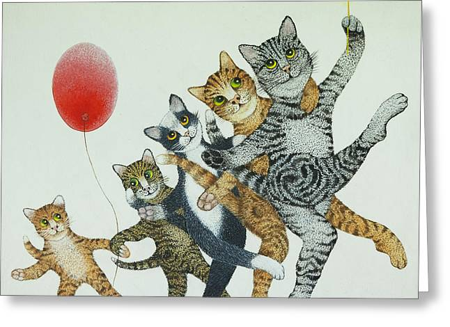 Cute Kitten Drawings Greeting Cards - Show Stoppers Greeting Card by Pat Scott