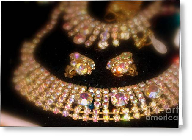 Showered In Diamonds Greeting Card by Jacqueline Manos