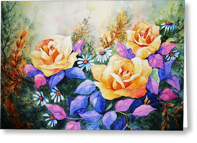 Rose Petals Greeting Cards - Showing Off Greeting Card by Darla Waters