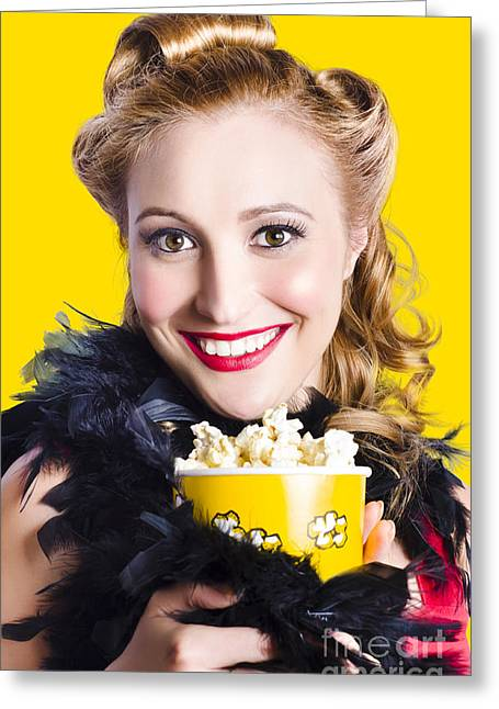 Showtime On Broadway Greeting Card by Jorgo Photography - Wall Art Gallery
