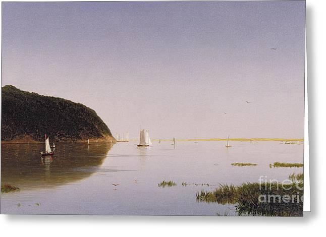 Shrewsbury River - New Jersey Greeting Card by John Frederick Kensett