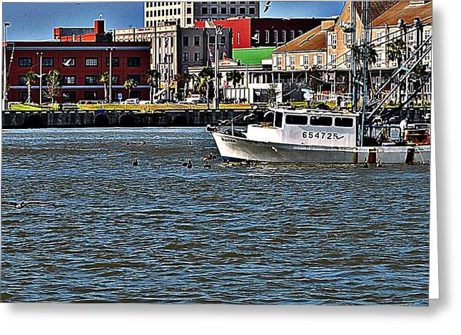 John Collins Greeting Cards - Shrimper Greeting Card by John Collins