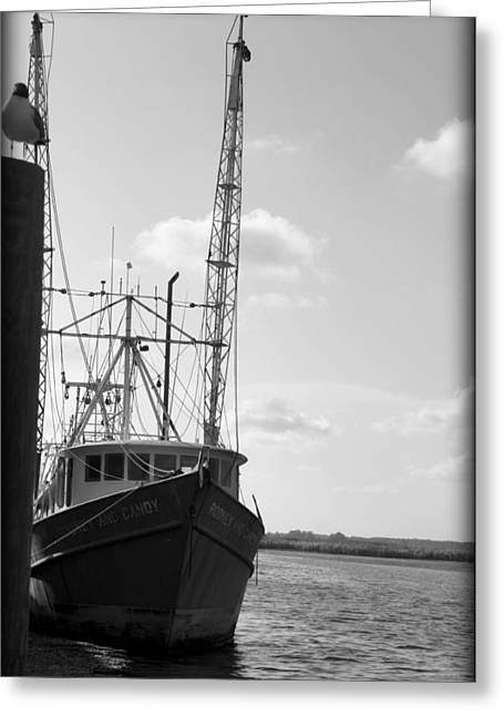 Shrimper Greeting Card by Laurie Perry