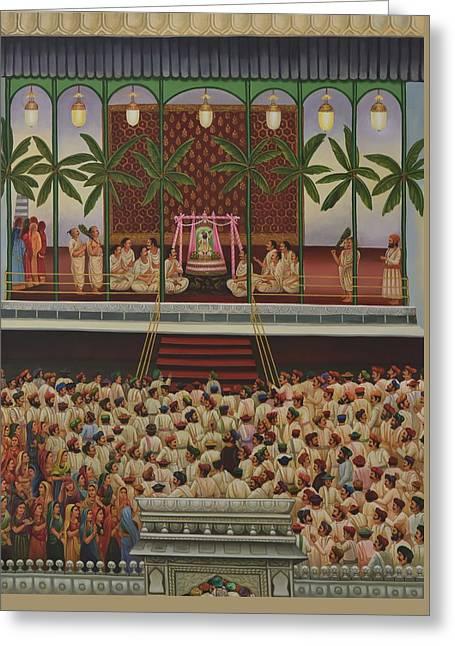 Shrinathji Sabha Greeting Card by Durshit Bhaskar