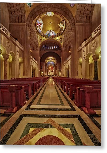 Byzantine Greeting Cards - Shrine Of The Immaculate Conception Greeting Card by Susan Candelario