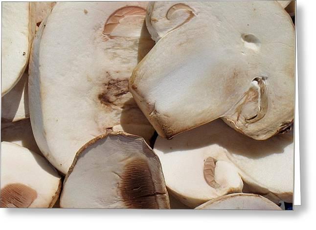 Button Mushrooms Greeting Cards - Shrooms Greeting Card by Lori Pessin Lafargue