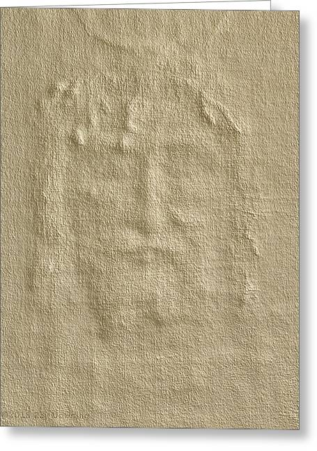 Shroud Of Turin 3d Information Greeting Card by Ray Downing