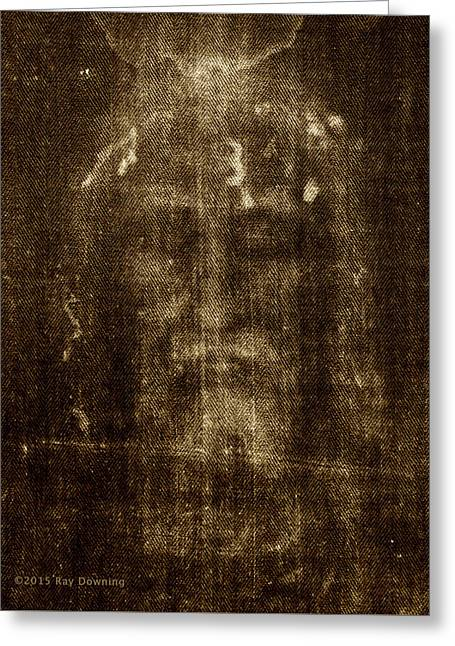 Shroud Of Turin Greeting Card by Ray Downing