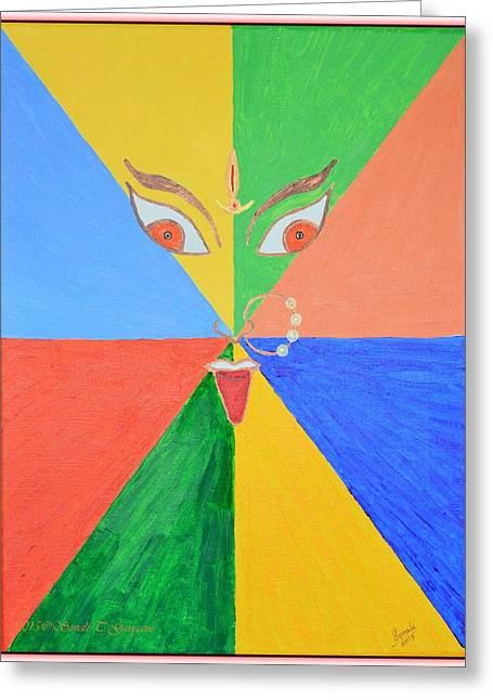 Shubh Durga Ashtami Greeting Card by Sonali Gangane