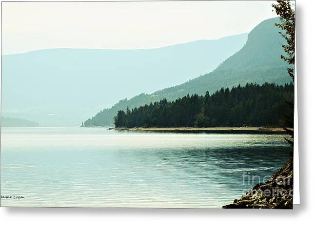 Lakescape Greeting Cards - Shuswap Lake in Beautiful British Columbia Greeting Card by Jayne Logan Intveld
