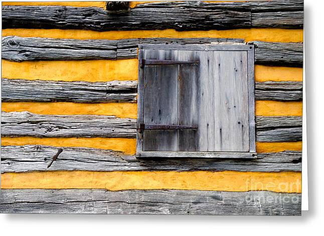 Log Cabins Greeting Cards - Shuttered Window Greeting Card by Paul W Faust -  Impressions of Light