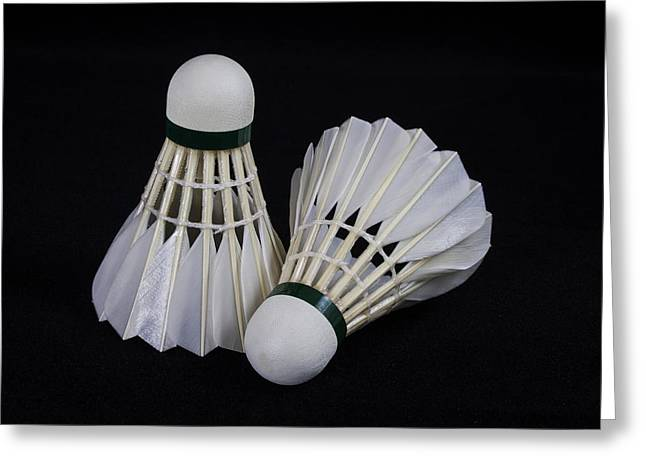 Racquet Greeting Cards - Shuttlecock 1 Greeting Card by Michael Greaves
