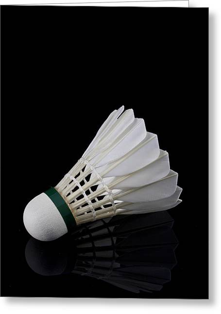 Racquet Greeting Cards - Shuttlecock 11 Greeting Card by Michael Greaves