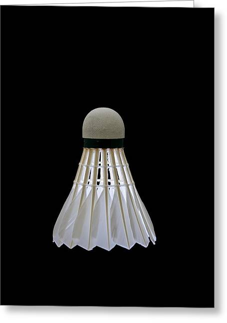 Racquet Greeting Cards - Shuttlecock 12 Greeting Card by Michael Greaves